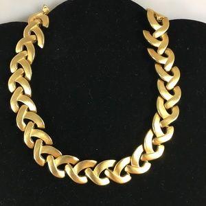 Fernando Originals F. O. Brushed Goldtone Necklace